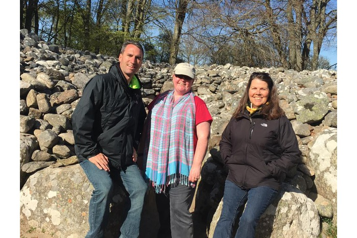 Sam Thomson and Clients at Clava Cairns Outlander