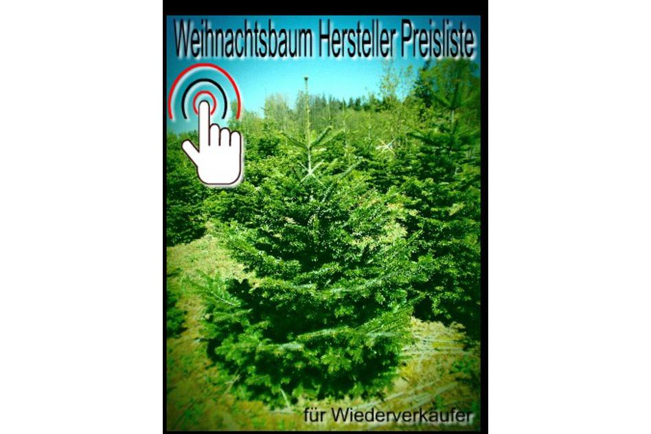Weihnachtsbaum Preisliste einfach anfordern