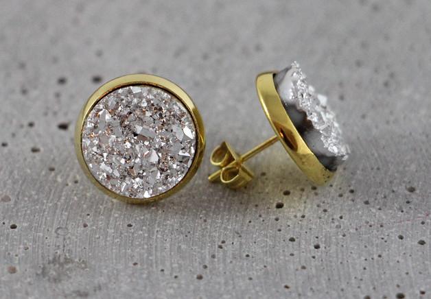 Druzy - Gold/Silber S