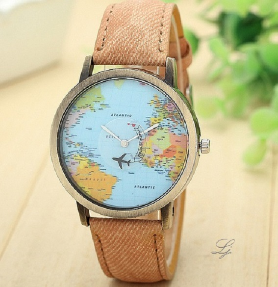 Uhr - Travel the World *braun