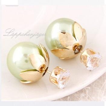 Pearls - Light Green/Flowers