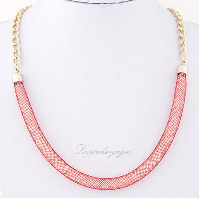 Necklace - Pearls/Gold/Red