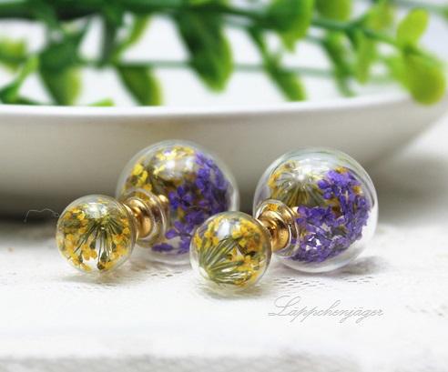Pearls - Flowers Purple/Yellow