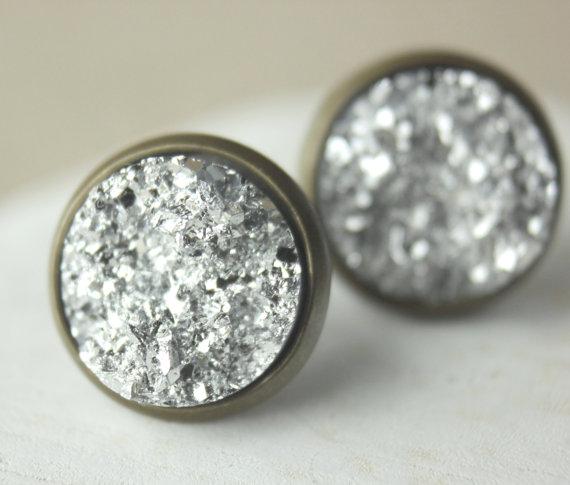 Druzy - Silber/Bronze S