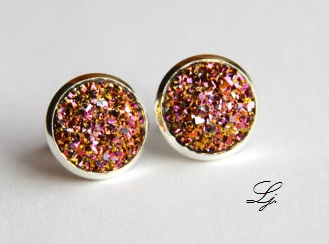 Druzy - Pink/Gold/Silber CLIPS