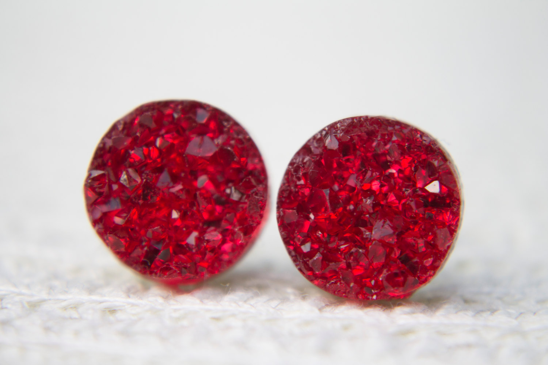 Druzy - Rot/Silber S