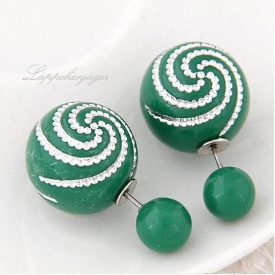 Pearls - Dark Green/Silver