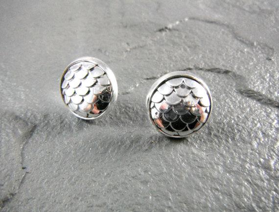Druzy - Fischschuppen silber metallic S
