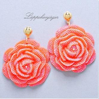 Flower Power - Orange/Pink Rose