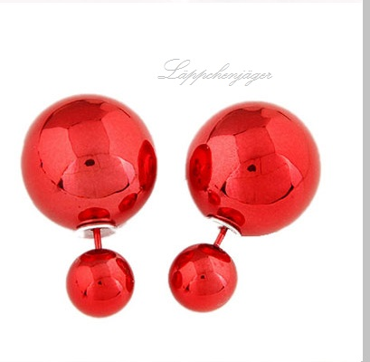 Pearls - Red metallic O