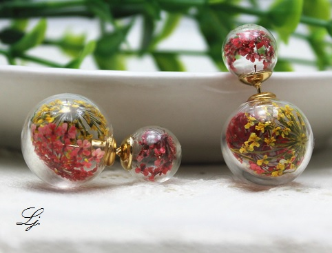 Pearls - Flowers Yellow/Red