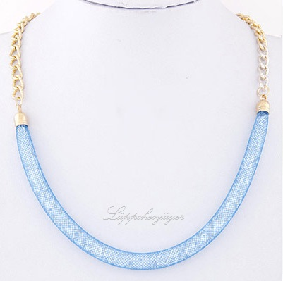 Necklace - Pearls/Gold/Blue