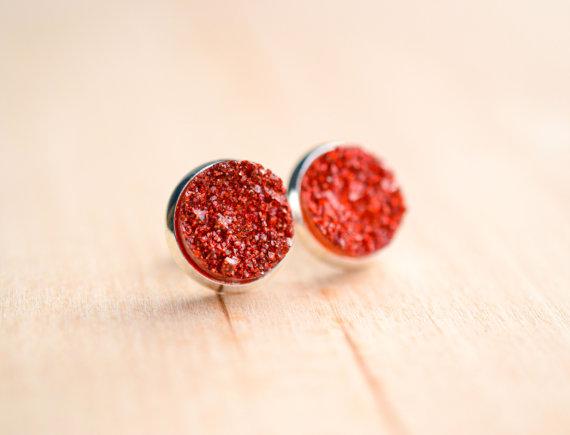 Druzy - Rot/Silber3 S