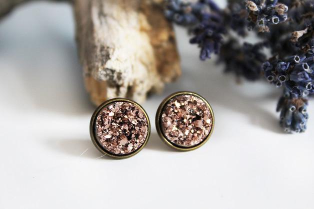Druzy - Rosé/Bronze CLIPS