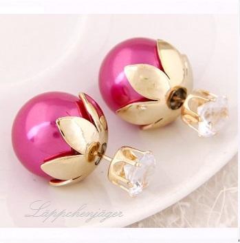 Pearls - Pink Flowers