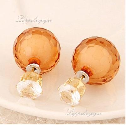 Pearls - Orange/Clear