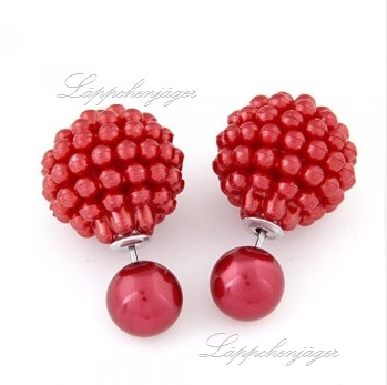 Pearls - Red/Silver H