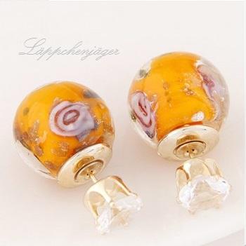 Pearls - Orange Rose