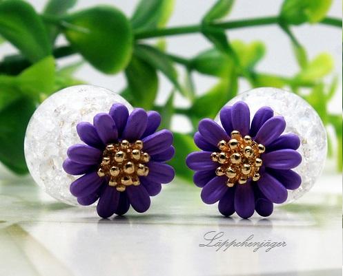 Pearls - Purple Flowers H