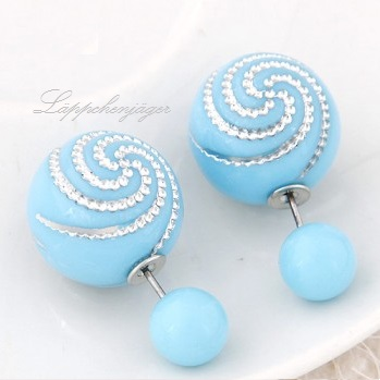 Pearls - Light Blue Silver