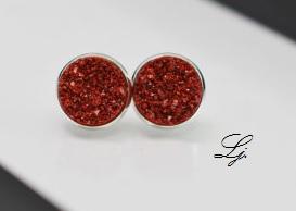 Druzy - Rot/Silber CLIPS