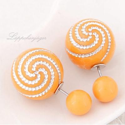 Pearls - Orange/Silver