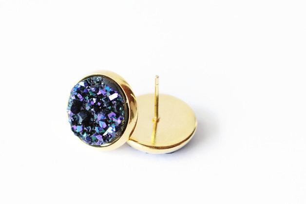 Druzy - Lila/Blau/Gold S