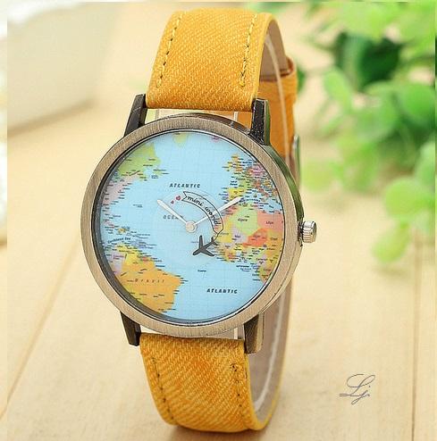 Uhr - Travel the World *gelb