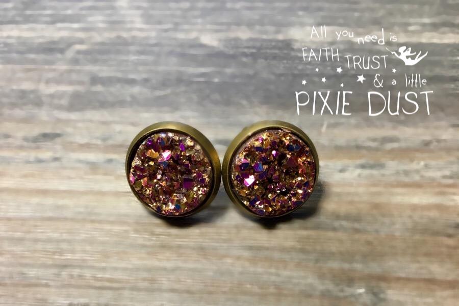 Druzy - Rosé/Pink/Gold CLIPS