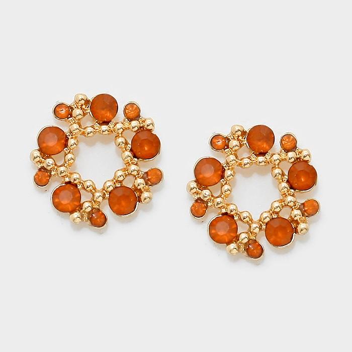 Little Dots - Orange/Light Brown