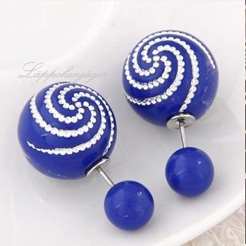 Pearls - Blue Flowers 7