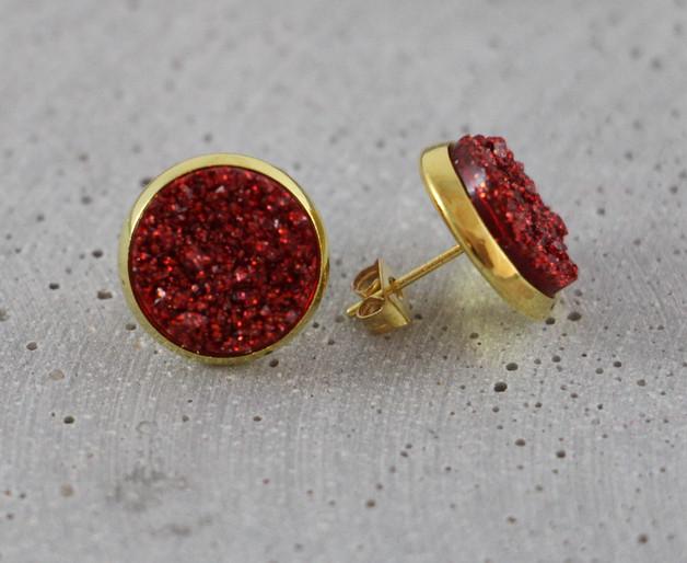 Druzy - Rot/Gold S