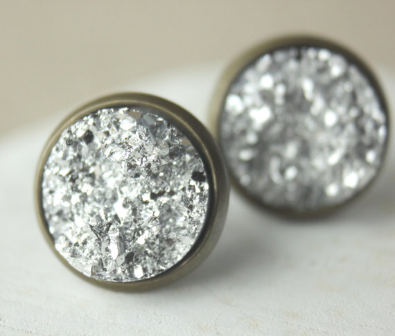 Druzy - Silber/Bronze CLIPS