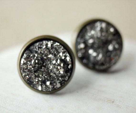 Druzy - Grau/Bronze CLIPS