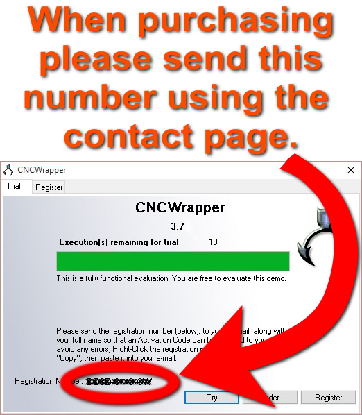CNCWrapper unlock key.