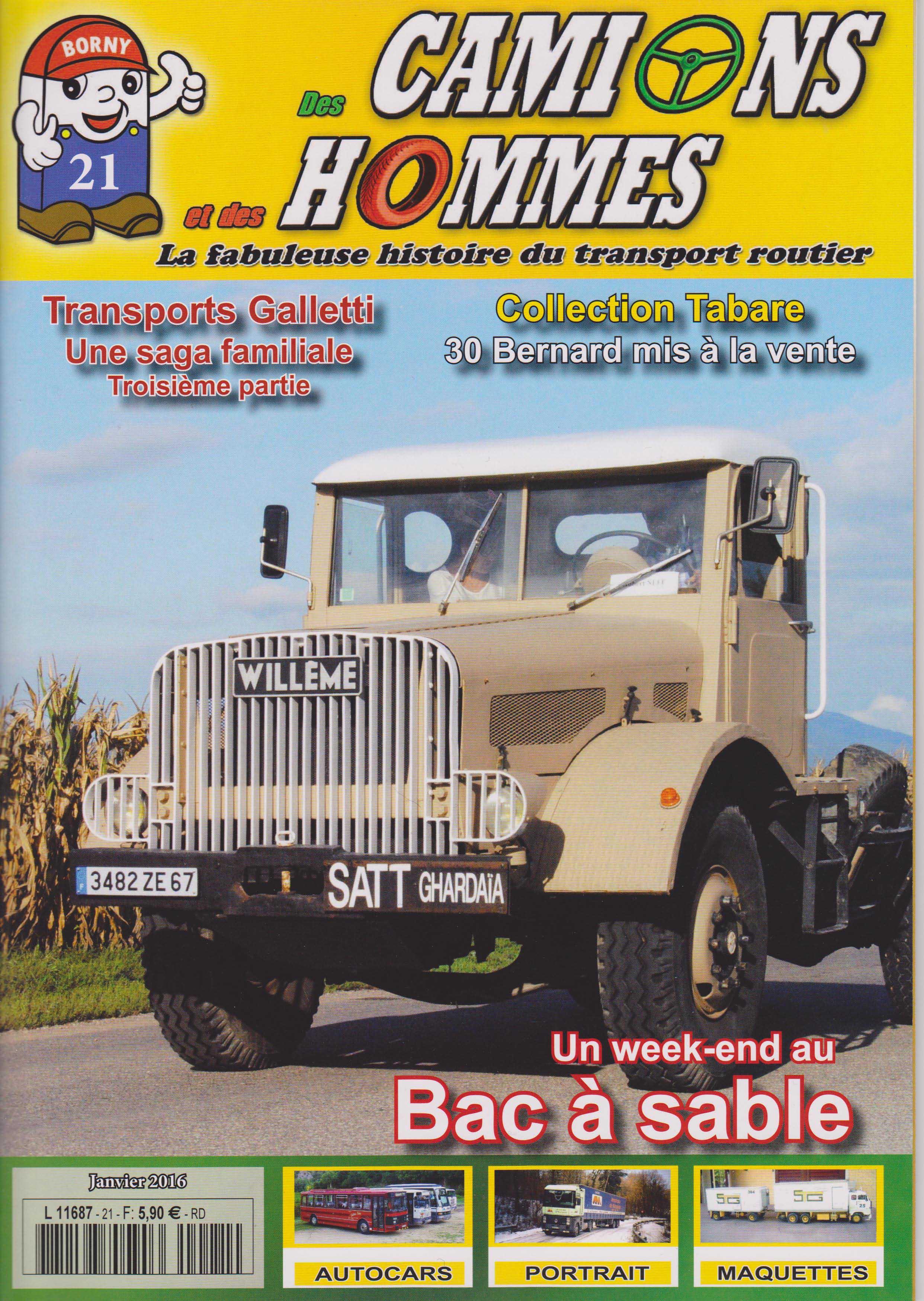 Magazine N°21 Des Camions et des Hommes (Etranger)