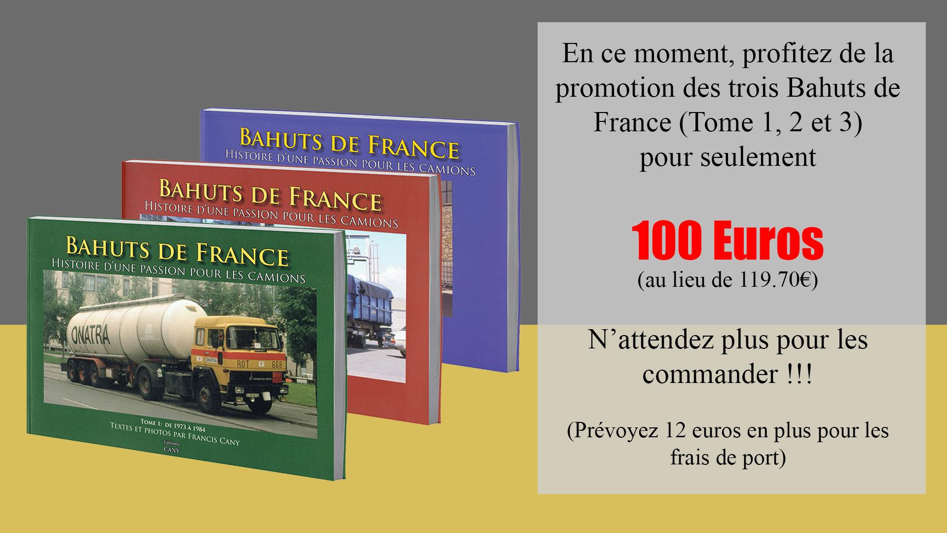 Promo Livre Bahuts de France Tome 1, 2, 3