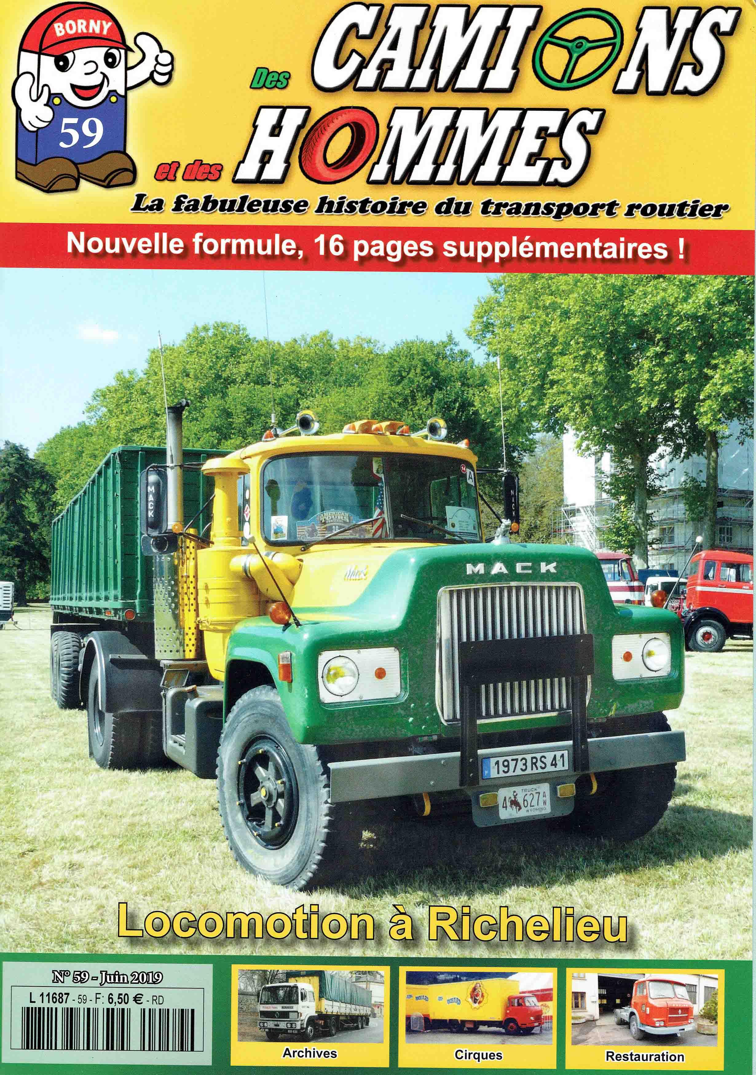 Magazine N°59 Des Camions et des Hommes (Etranger)