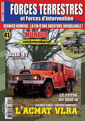 Forces Terrestres N°41 (Etranger) DERNIER NUMERO DU MAGAZINE