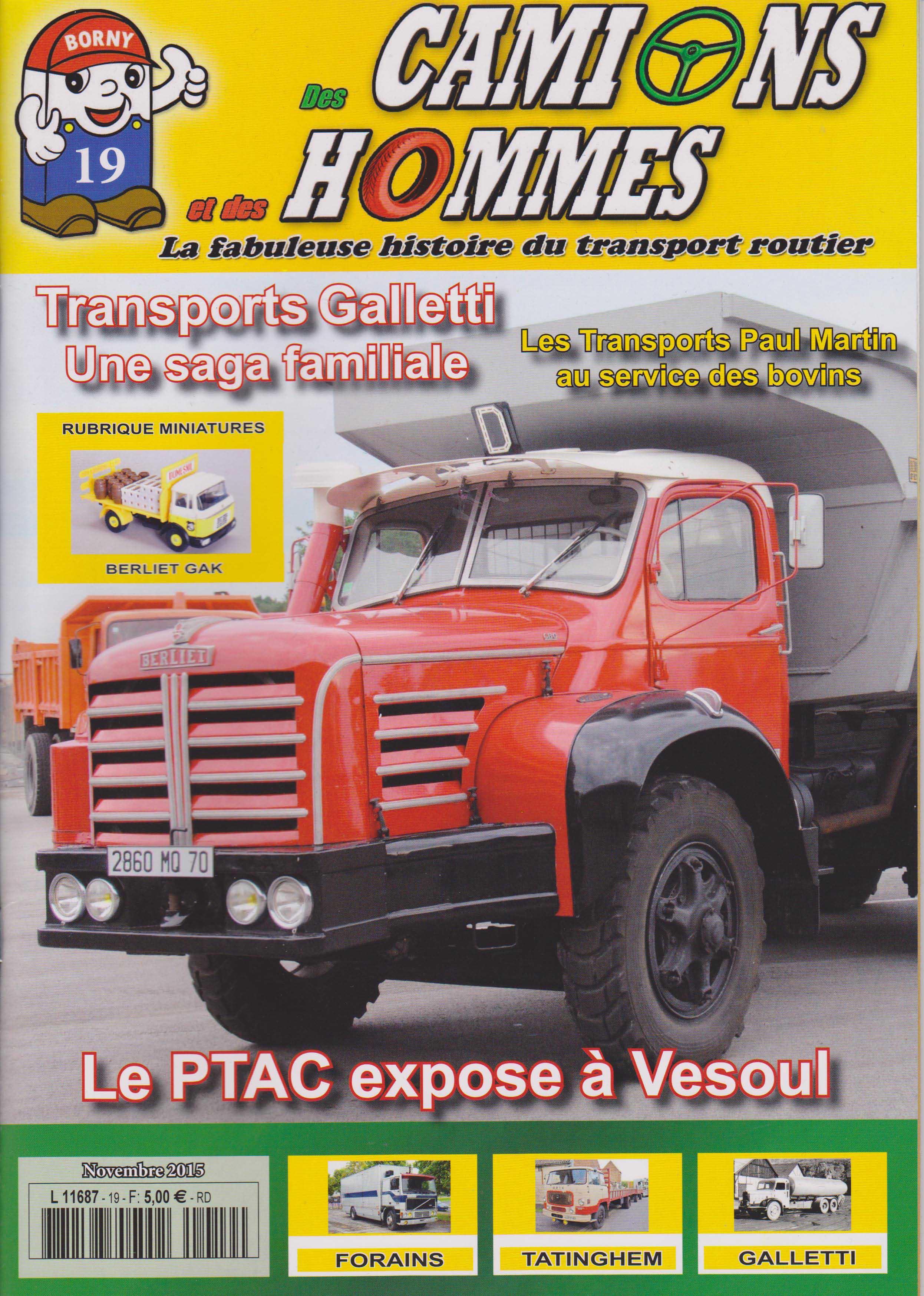 Magazine N°19 Des Camions et des Hommes (Etranger)