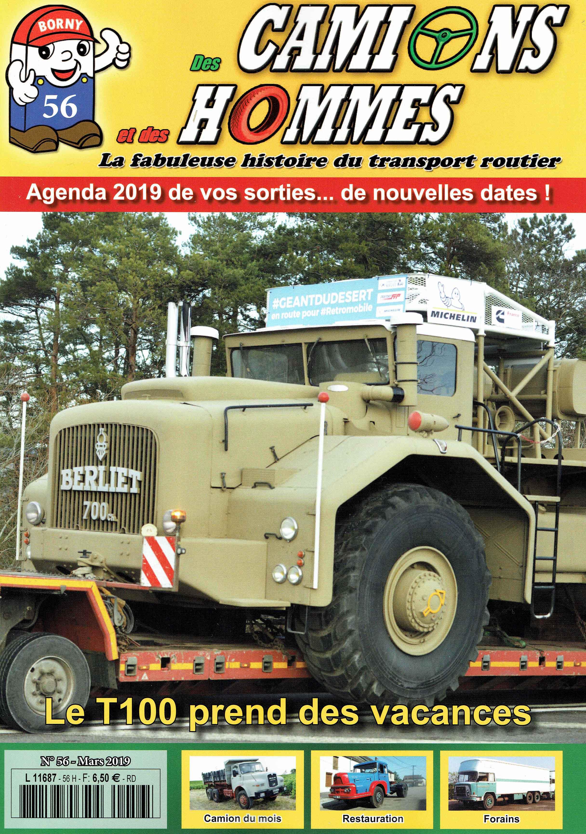 Magazine N°56 Des Camions et des Hommes (Etranger)