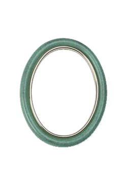 Cornice ovale 9x12 OLMO verde pompeiano
