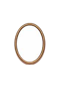 Cornice ovale 9x12 bronzo