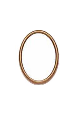Cornice ovale 13x18 bronzo