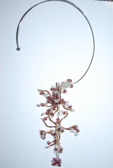 Collier Arbre Asiatique Rose