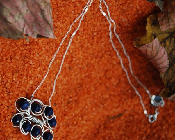 Chaine Lapis-lazuli et argent