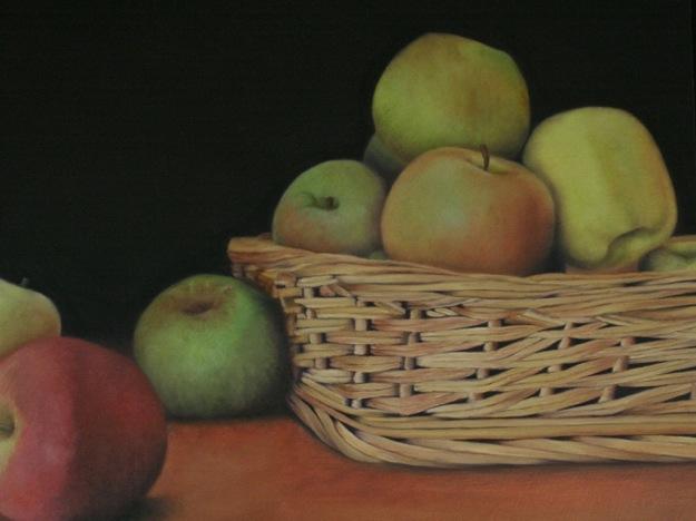 Manzanas y cesta