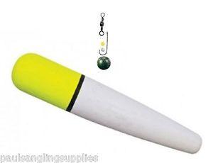Sea Fishing Float Kit Large  Weight + Hook Hi Vis Yellow