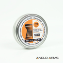 Anglo Arms .177 Flat Pellets - 500pc in Tin