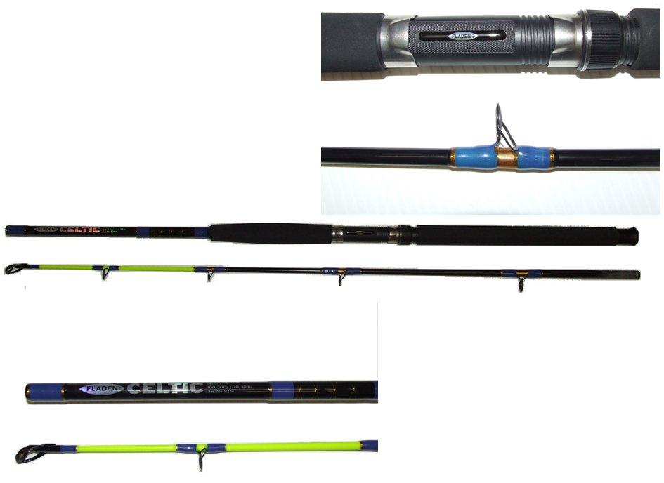 Fladen Celtic Boat Rod 1.8m 6' 20-30lb RD8  2 Piece Fladen Celtic Boat Rod | Rods | Flash Fishing Tackle